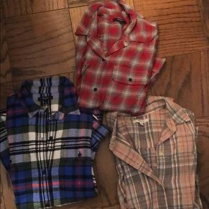 3 Madewell flannels